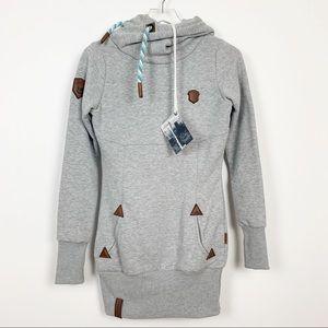 Naketano | Lange IX Long Grey Hoodie